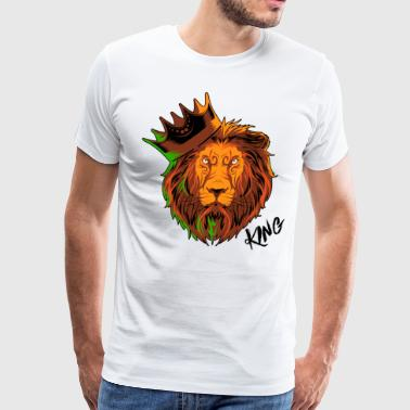 King of Lions Wild Cat Lion - Men's Premium T-Shirt
