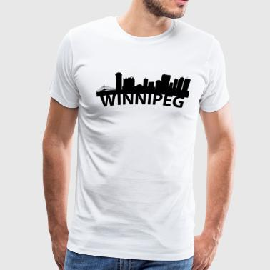 Arc Skyline Of Winnipeg Manitoba Canada - Men's Premium T-Shirt