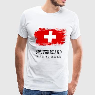 SWITZERLAND FLAG - THIS IS MY COUNTRY - Men's Premium T-Shirt