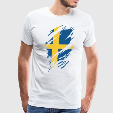 SWEDISH FLAG - Men's Premium T-Shirt