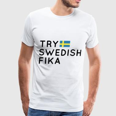 try swedish fika patriotic t shirts - Men's Premium T-Shirt