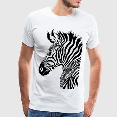 Cool Zebra design - Men's Premium T-Shirt