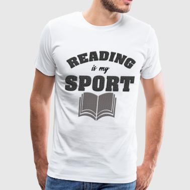 Reading Is My Sport - Men's Premium T-Shirt