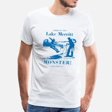 Blue White Classic Monster - Blue on White - Men's Premium T-Shirt