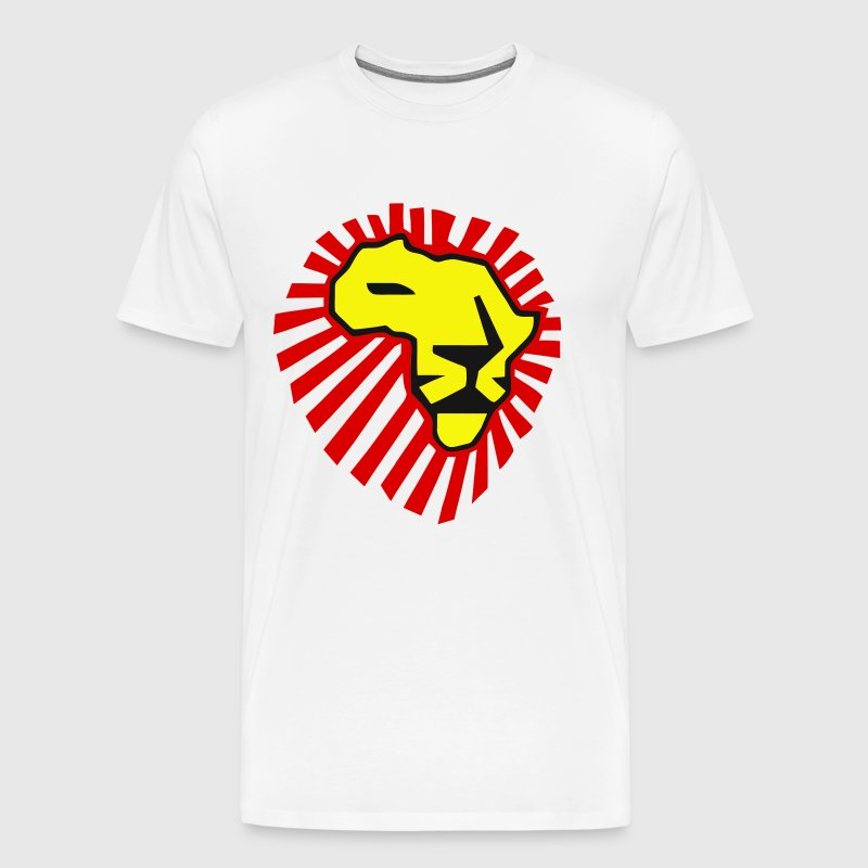 Waka Waka Yellow Lion / Red Mane T-Shirt - Men's Premium T-Shirt