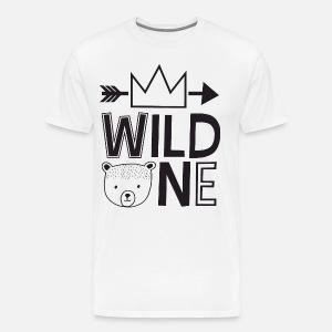Wild One Birthday Boy Raglan Shirt Bear Baseball Tee