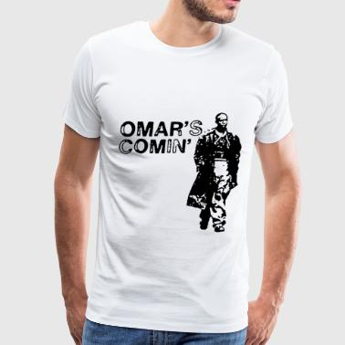 Omar Little Comin Hustle Wire Any Color hustle - Men's Premium T-Shirt