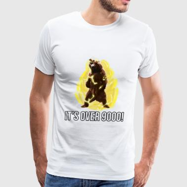 IT'S OVER 9000 - BEAR - TEE - Men's Premium T-Shirt