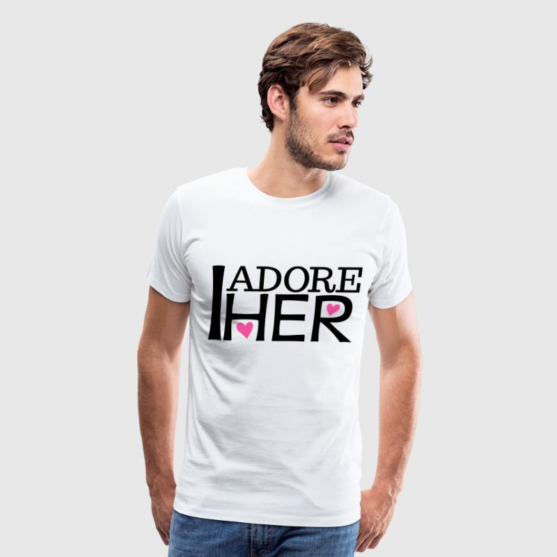 I Adore Her Matching Couples - Men's Premium T-Shirt