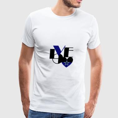 Cowboys Fan Love - Men's Premium T-Shirt