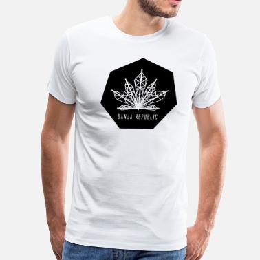 Go Green Logo Ganja Republic logo - Men's Premium T-Shirt