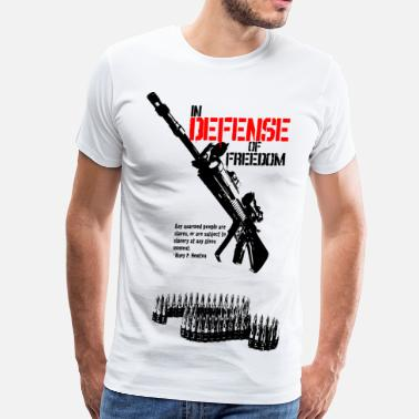 Huey P Newton defense_of_freedom - Men's Premium T-Shirt