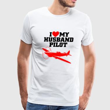 Husband pilot - i love my husband pilot - Men's Premium T-Shirt