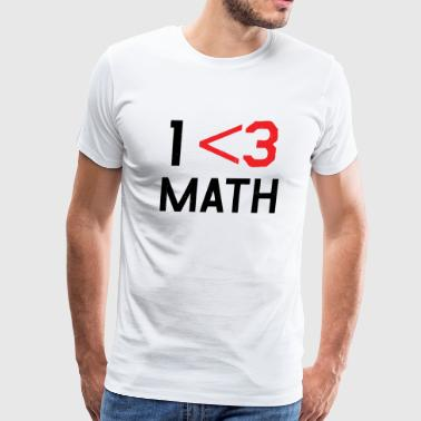 Math - Less Than 3 - Men's Premium T-Shirt