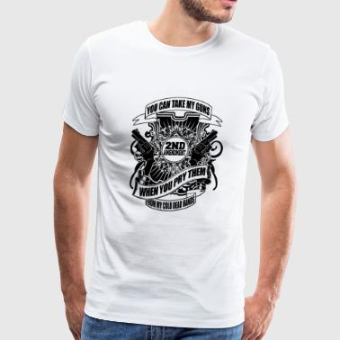Gun - guns - Men's Premium T-Shirt
