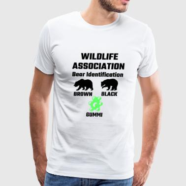 Gummi - Wildlife Association Bear Identification - Men's Premium T-Shirt