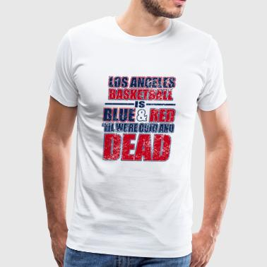 Los angeles - los angeles basketball is blue and - Men's Premium T-Shirt