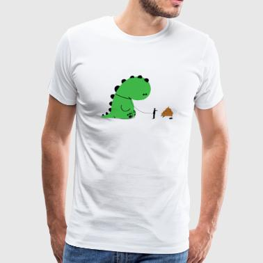 Dino - Dino Shit - Men's Premium T-Shirt