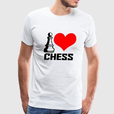 I Love Chess CHESS - I LOVE CHESS - Men's Premium T-Shirt