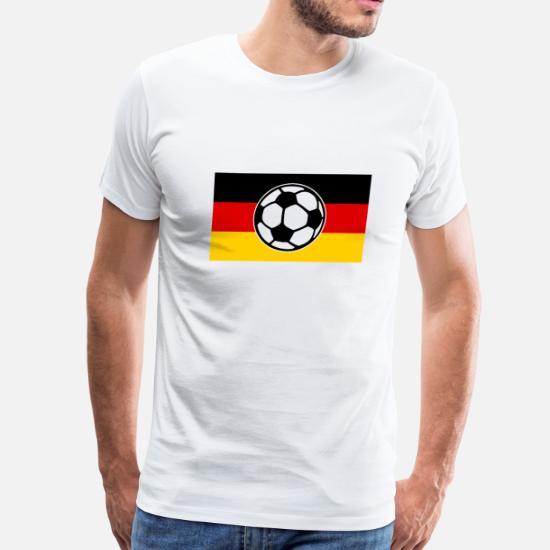 d4422e6d44a Football T-Shirts - Soccer Germany Flag - Men s Premium T-Shirt white