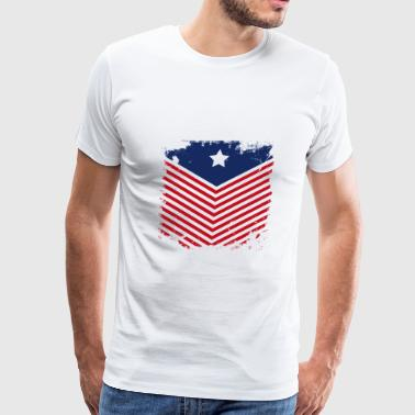 Vintage US Flag - Men's Premium T-Shirt