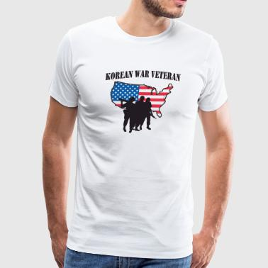 Korean War Veteran - Men's Premium T-Shirt