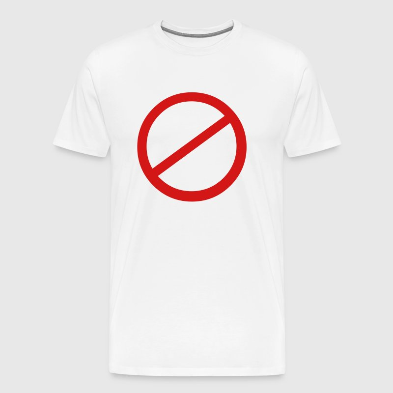 NO sign - Men's Premium T-Shirt