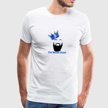 THE BEARD GAME-BLUE - Men's Premium T-Shirt