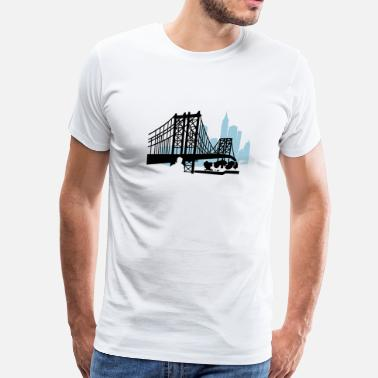 Bridge Vector NewYork City Bridge - Men's Premium T-Shirt