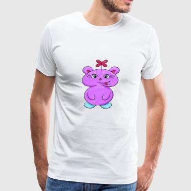 Stick Drawing cute little Baby Monster Girl Hallowenn Gift Idea - Men's Premium T-Shirt