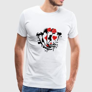 Card game hearts, spades, diamonds, clubs with dice and tokens - Men's Premium T-Shirt