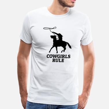 Cowgirl Rules Cowgirls rule - Men's Premium T-Shirt