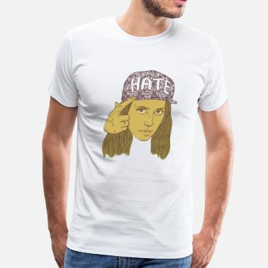 Hila Klein h3h3production hate hat - Men's Premium T-Shirt