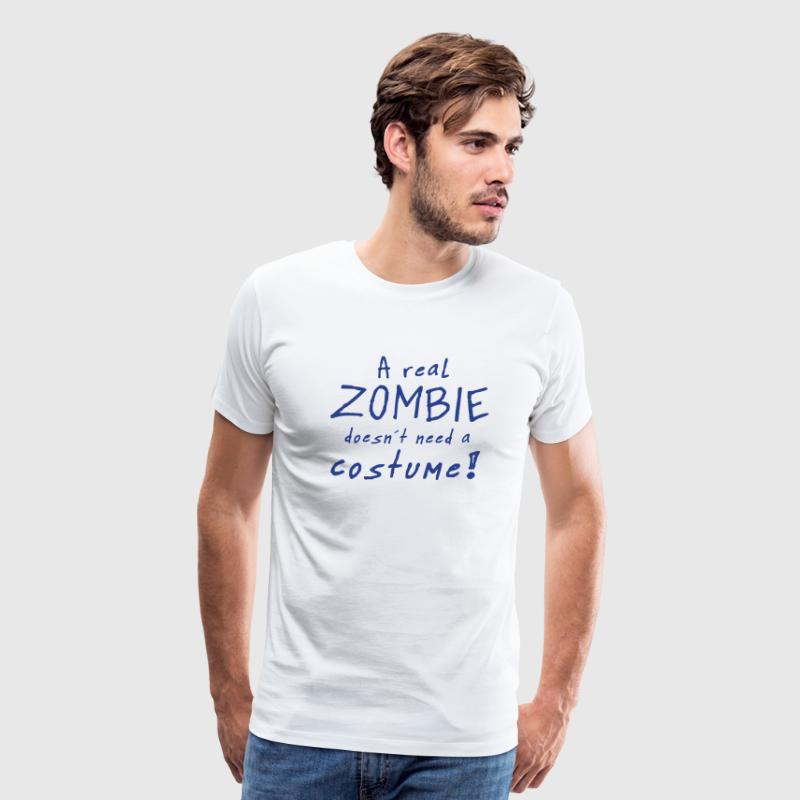 a real zombie costume - Men's Premium T-Shirt