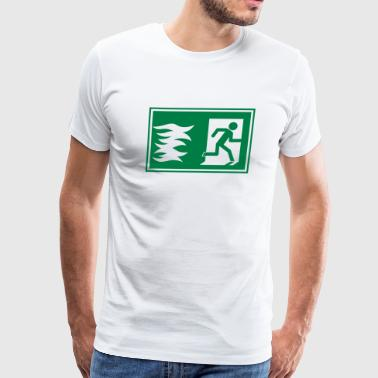 emergency exit / fire alarm sign - Men's Premium T-Shirt