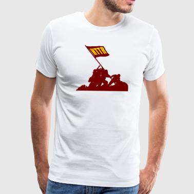 Hail To The Redskins HTTR - Men's Premium T-Shirt