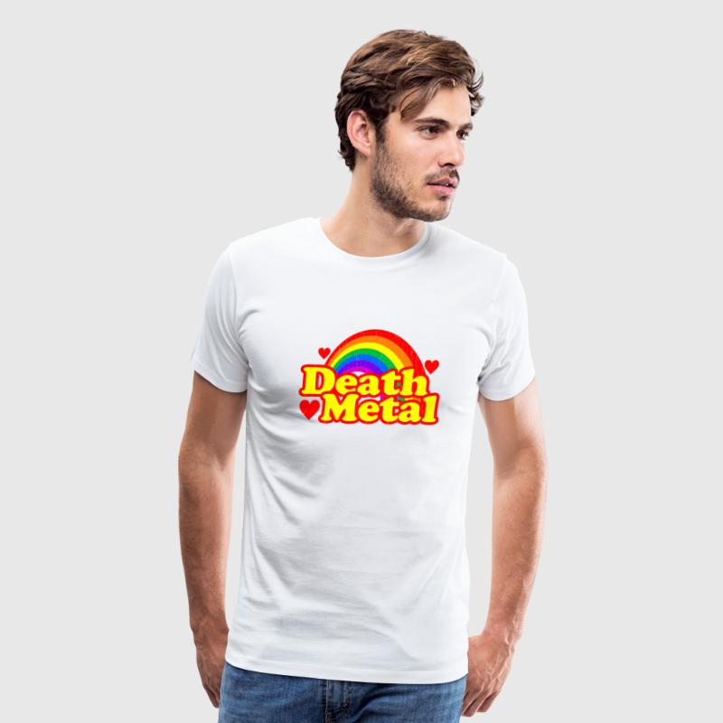 Funny Death Metal Rainbow: vintage distressed look - Men's Premium T-Shirt