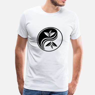 Asian China Oriental Yin yang decorative - Men's Premium T-Shirt