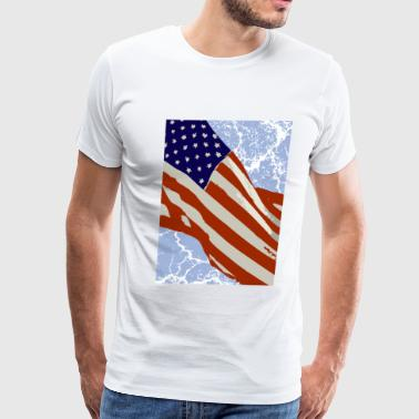American Flag - Men's Premium T-Shirt