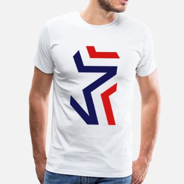 Red White And Blue Blue Red Star - Men's Premium T-Shirt