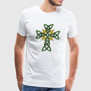 St Patrick's Day Celtic Cross - Men's Premium T-Shirt