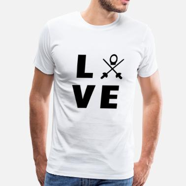 Fencer love my sport - Men's Premium T-Shirt