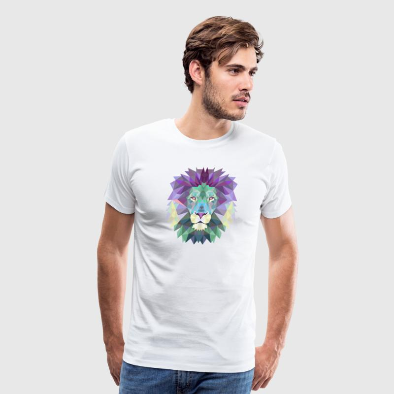 Polygonal Lion - Men's Premium T-Shirt