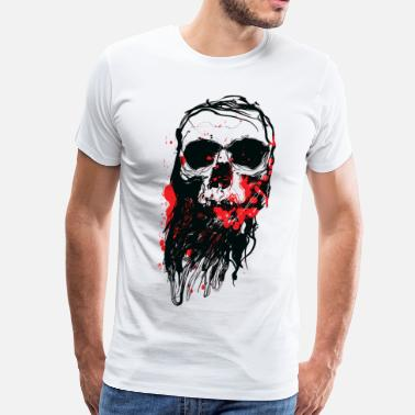 4xl Halloween Bloody Skull - Men's Premium T-Shirt