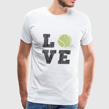 Vintage Tennis Love - Men's Premium T-Shirt