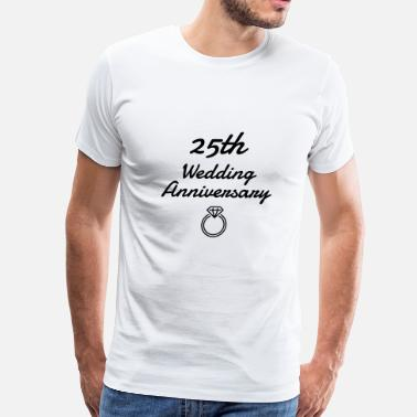 Silver Wedding Anniversary Marriage Mariage Wedding Anniversary 25 Silver - Men's Premium T-Shirt