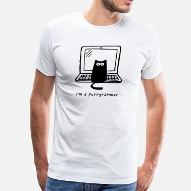 I am a purrgramer2 - Men's Premium T-Shirt