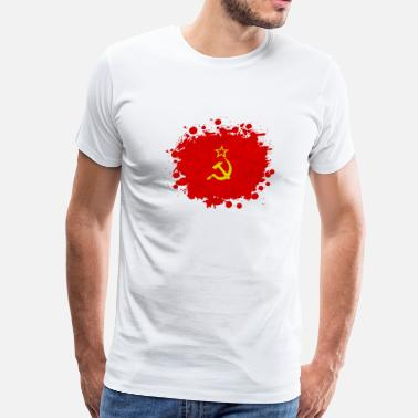 Flag Communism USSR blob / Soviet Union gift communism - Men's Premium T-Shirt