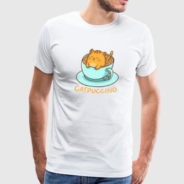 Kawaii Cat and Cappuccino = Catpuccino - Men's Premium T-Shirt