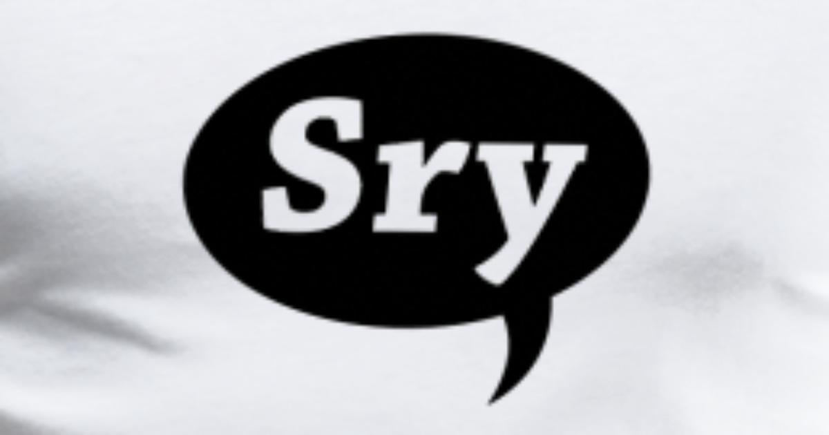 Sry Sorry Abbreviation Chat Bubble By Antscollection Spreadshirt
